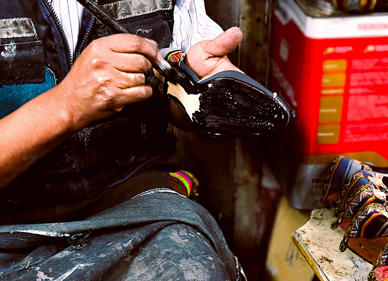 Rock + Pillar shoes being crafted | Photo by Rock + Pillar