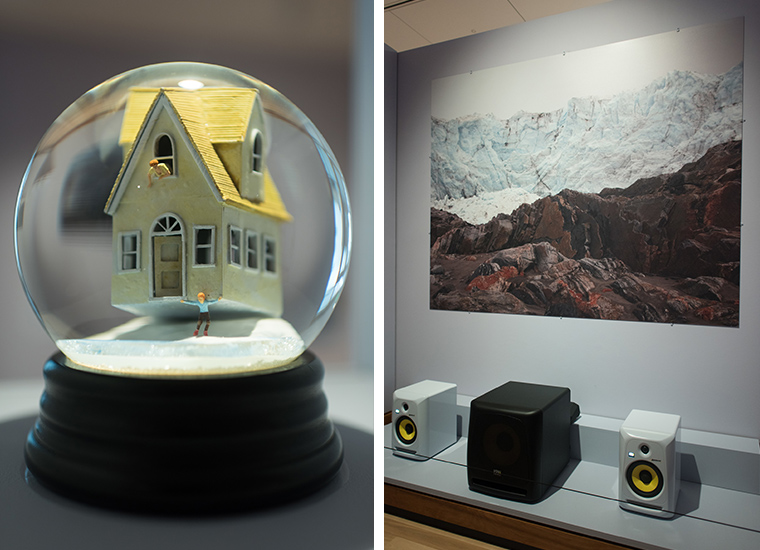 """One globe from Martin and Muñoz's """"Traveller"""" series & Kirkegaard's """"MELT"""" 