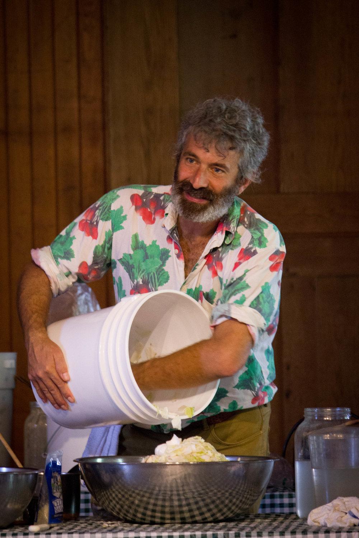 Sandor Katz leading a fermentation workshop