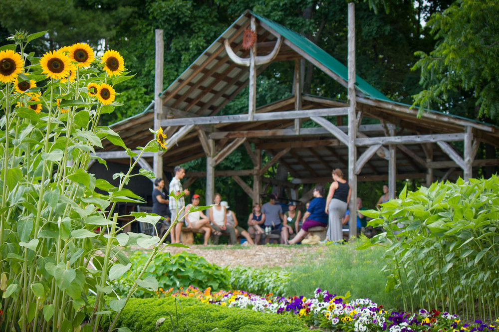 Educator professional development workshop in Shelburne Farms' Market Garden