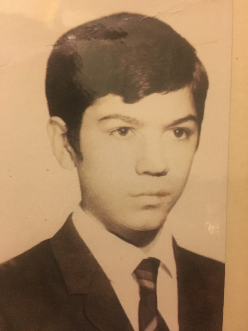 This is my Tio Arturo who you would never know from this serious face was a bonafide comedian. He was always laughing and making the world around him laugh along.  He was a physician and died of AIDS in 1991.  I think of him often, and especially today.  I can still hear his voice in my head.