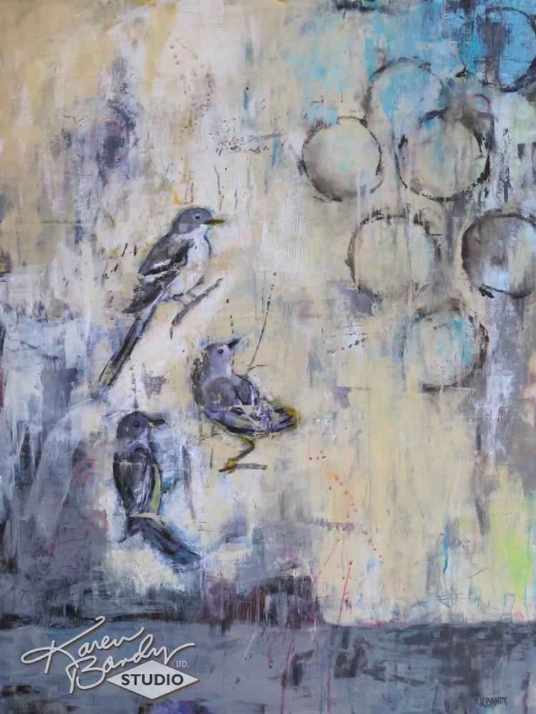 california dreamin u201c abstract acrylic bird painting with circles and rh karenbandy com