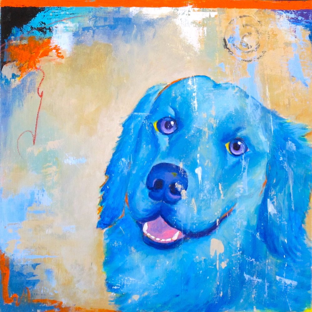 Custom dog portrait of Kenzie..