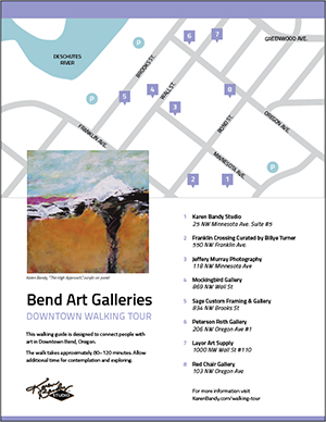 Click here to download a printable map of the Bend Art Galleries Downtown Walking Tour.