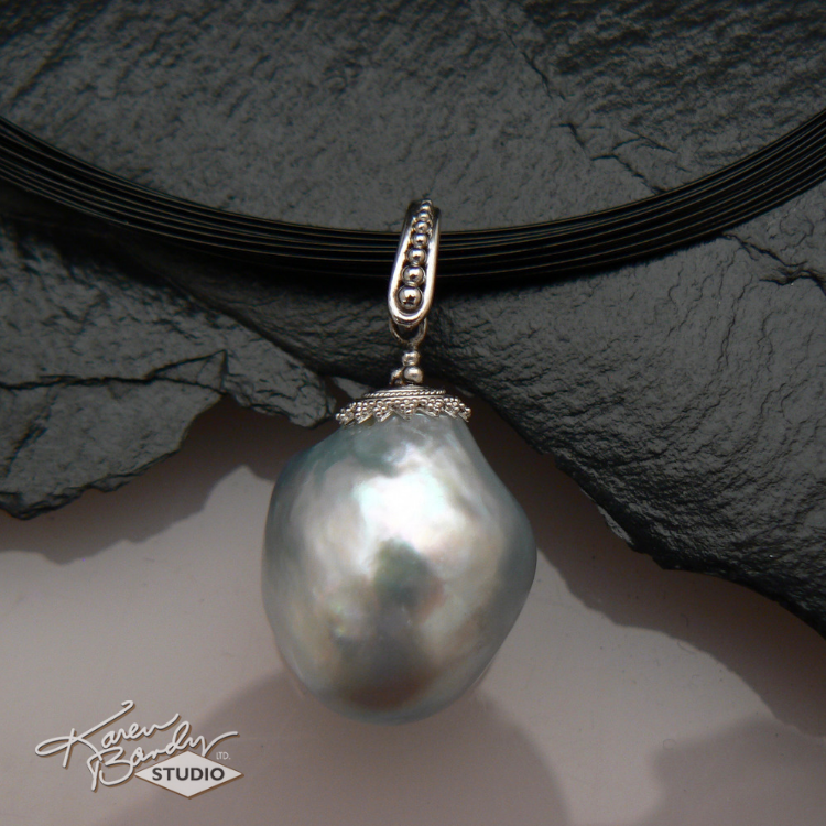 karen-bandy-studio-baroque-grey-south-seas-pearl-drop-necklace-bend-oregon.png