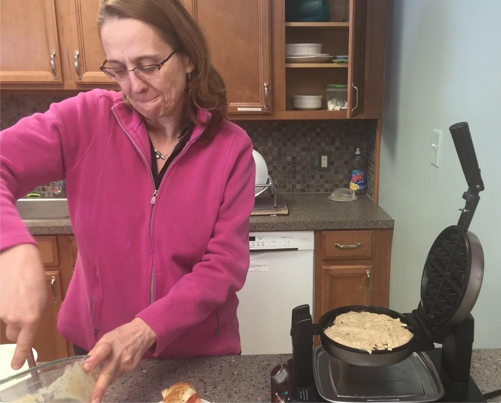 Quaker waffle making.jpg