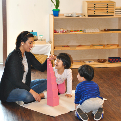 Many of the sensorial activities are directly related to math and geometry concepts and help create order in your child's mind in preparation for mathematical concepts.