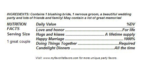 wedding ingredients