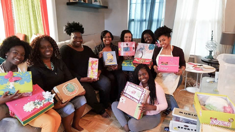 The ladies that attended Mrs. Tracy Wright's 3rd Annual Shoebox Party