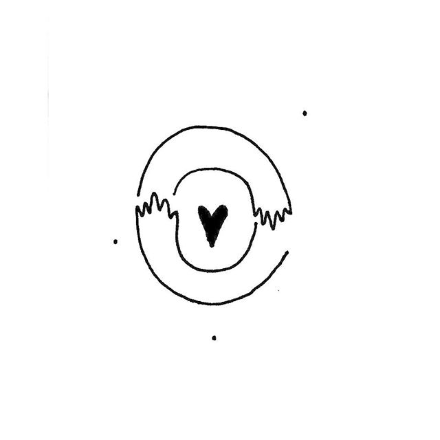 Día Totocho / Totocho Day #heart #hand #hands #hug #baby #love #stars #cosmos #saturn #ink #line #lines #black #draw #illustration #icon #simple