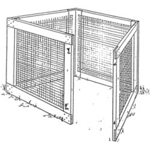 Wood and wire composter
