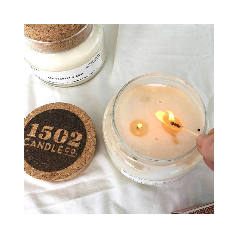 Enjoy your homemade soy candle! -