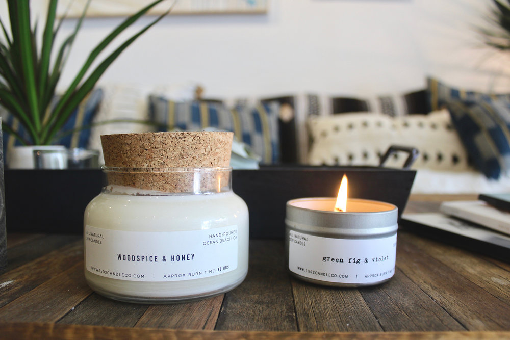 1502 Candle Co. soy wax candles