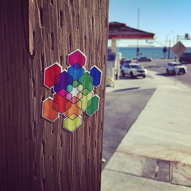 #sticker #hexeosis #hexagon #rainbow #snowflake