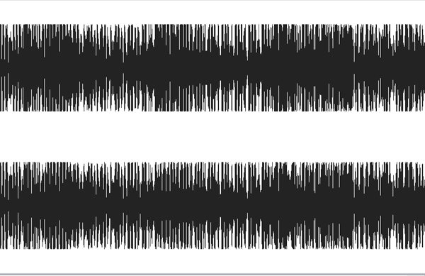 The first thing I noticed right away: this was mixed with a limiter on the master bus. Notice how the mixdown file peaks are all identical, the file itself resembles a square wave. In my humble opinion, a good mix – one that has dynamics – should never look like that. Here we have barely any dynamic shift between the verses and choruses, they all look (and sound) rather similar, making the song frankly quite flat and unexciting. It also leaves no room for an engineer to fine tune it when it gets to the mastering stage.