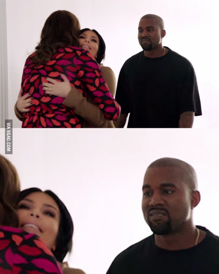 Kanye's first sight of Caitlyn Jenner...