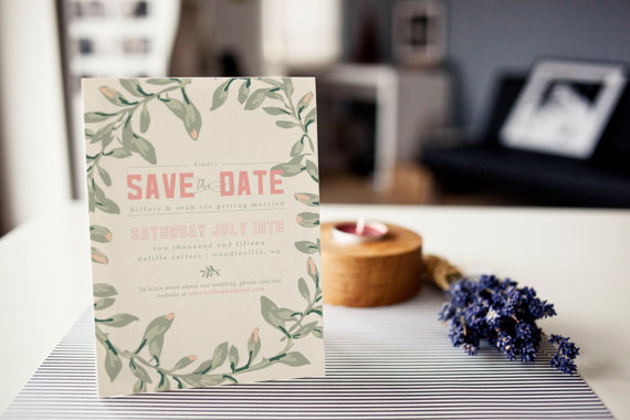 SAVE the DATE | Winery Wreath