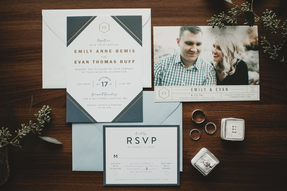EMILY + EVAN // SAVE THE DATE & WEDDING