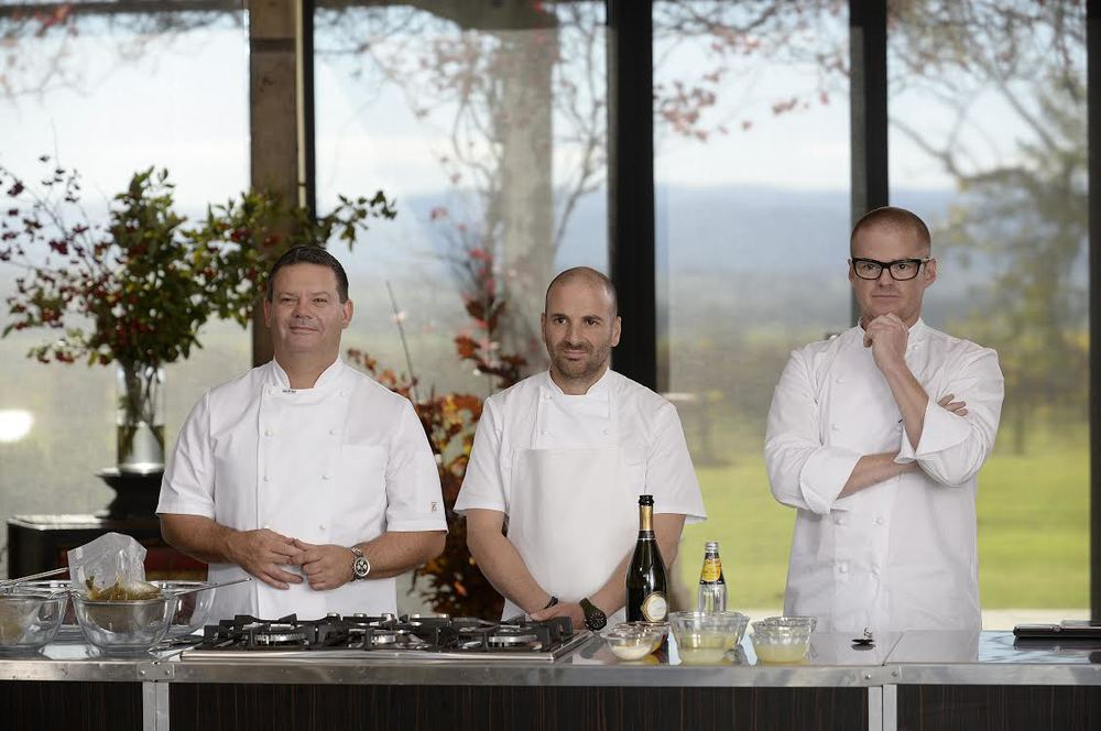Gary Mehigan, George Calombaris & Heston Blumenthal - Masterchef at Stones of the Yarra Valley