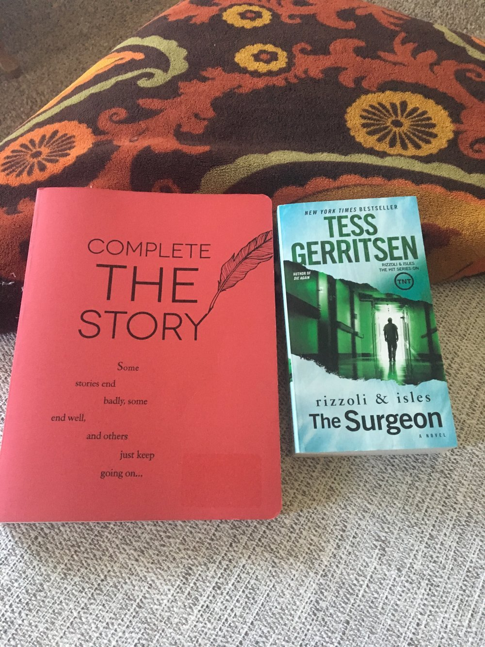 My latest Barnes and Noble book haul - I found a pretty neat prompt journal that actually looks decent. The prompts are sentences or partial paragraphs you then finish. Also, starting the Tess Gerritsen Rizzoli and Isles series.