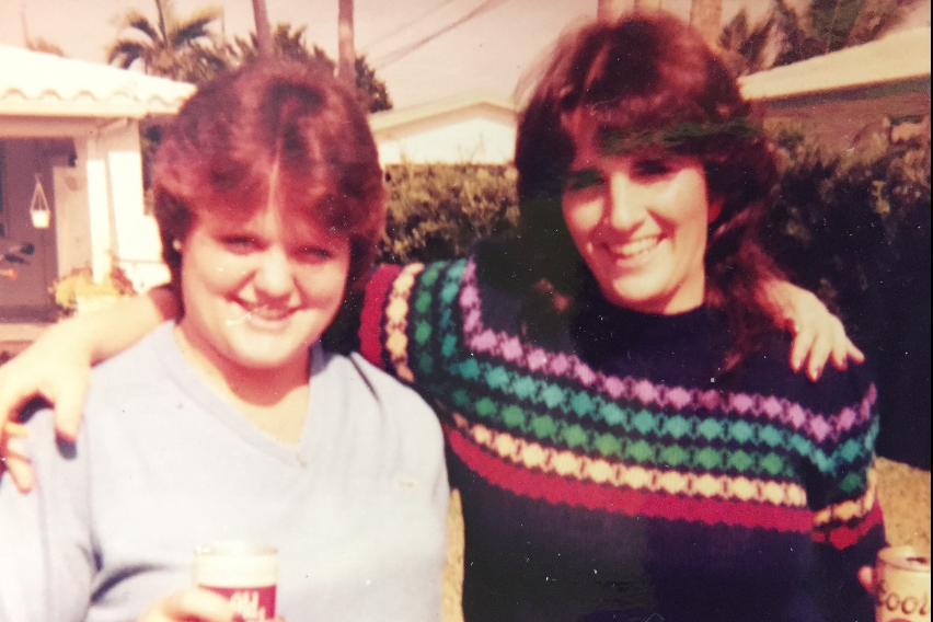 Colleen (left) and my mom (right)