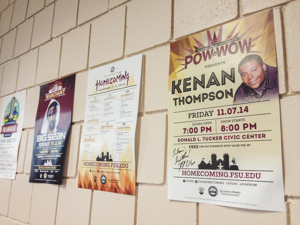 The entire series of posters for FSU Homecoming 2014.
