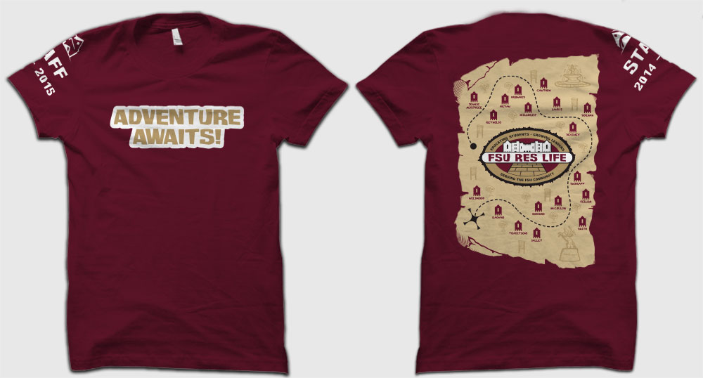 Completed 2014 – 2015 FSU Residence Life Staff Shirt