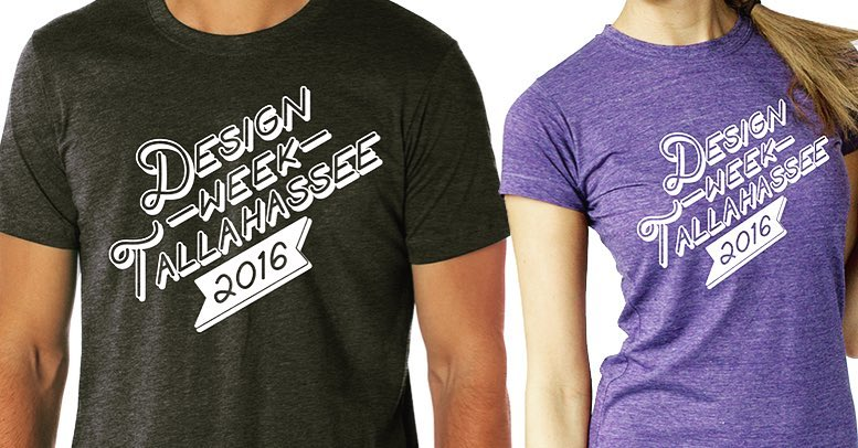 2016 Design Week Tallahassee shirts came in unisex or women's cuts.