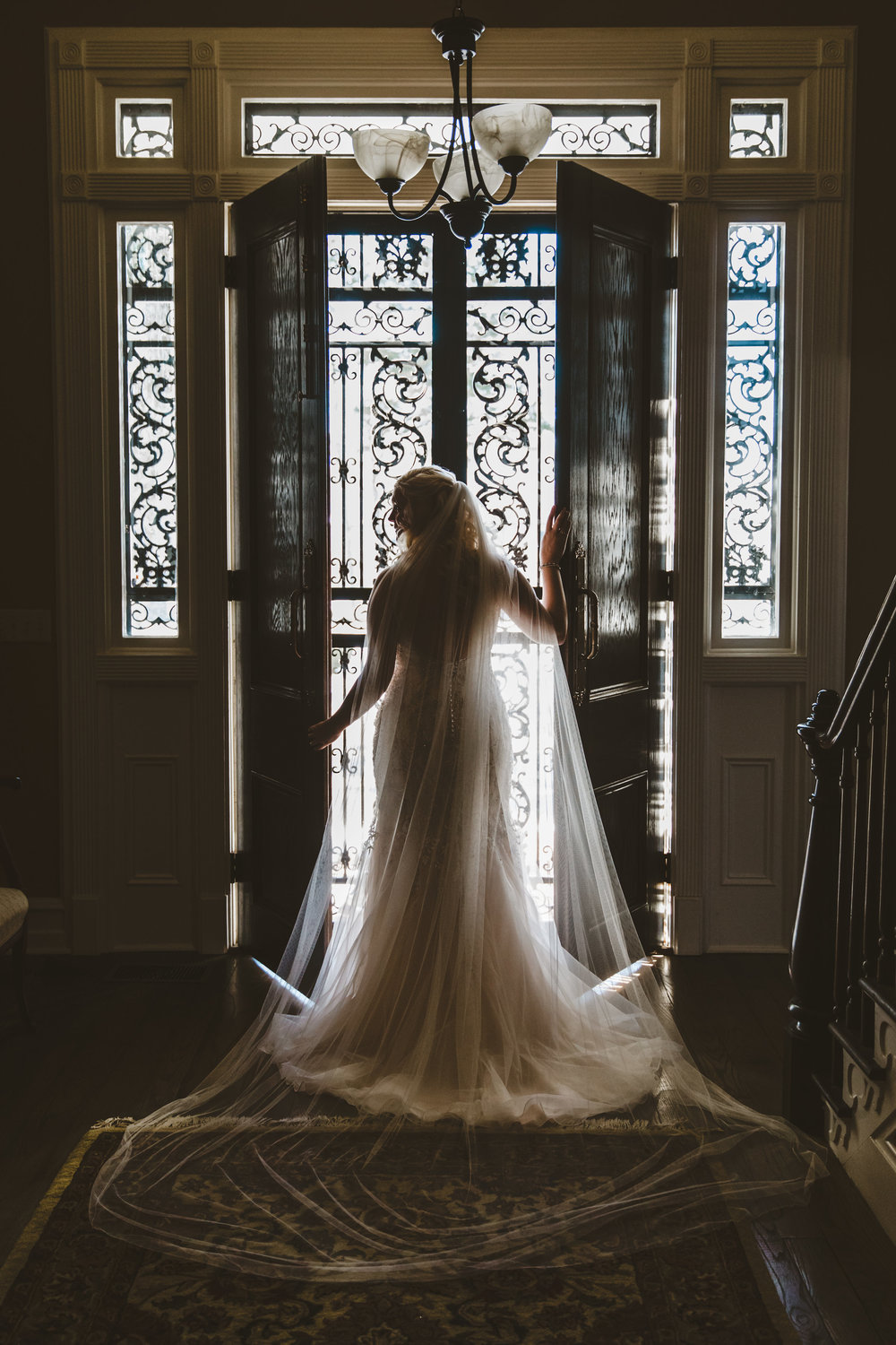 Emily stunned us with her beautiful sparkling gown and cathedral veil.