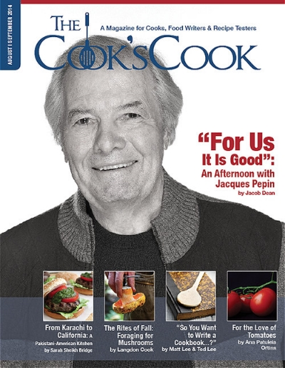 For Us It Is Good: An Afternoon With Jacques Pepin    For The Cook's Cook Magazine. Photo courtesy of Jacques Pepin.