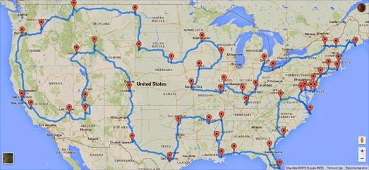 Not our actual travel routes. | Source: googlemapsmania.blogspot.com