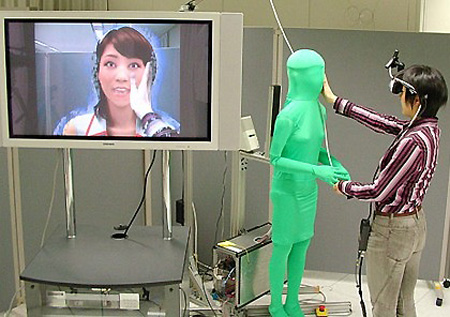 Touchable, virtual patient grounded in the real environment.
