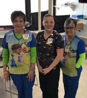 From left: Ana Aburto, Michelle Carrillo, Peggy Schuster