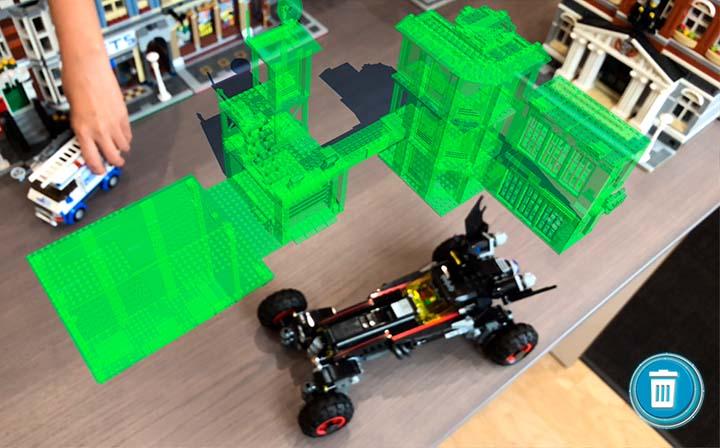 Lego's AR Studio app.