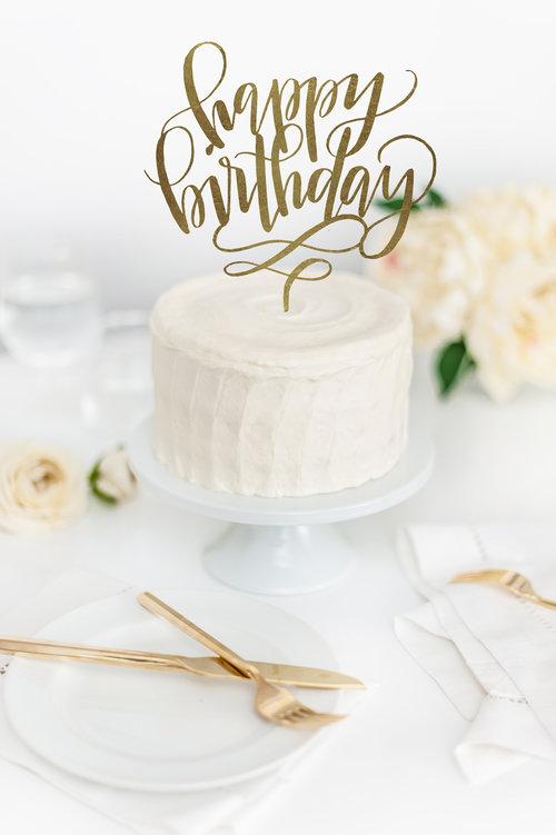 Happy Birthday Cake Topper Jenny Highsmith