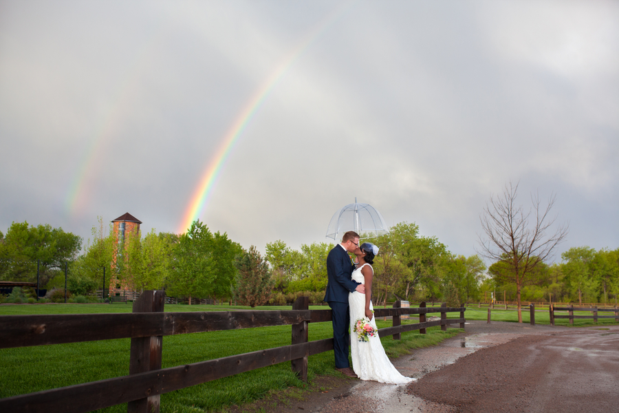 Double Rainbow Wedding in the Botanic Gardens at Chatfield