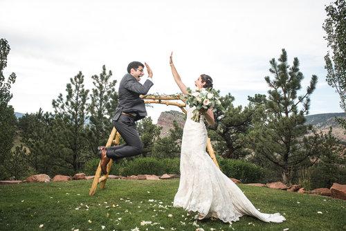Real weddings colorful colorado weddings dec 28 2017 junglespirit Image collections