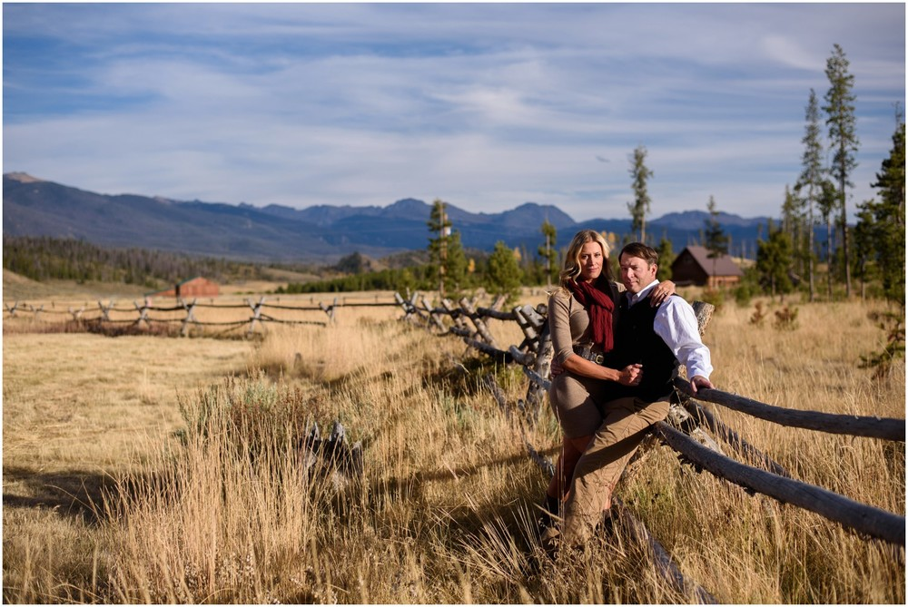 colorado fall rocky mountain engagement couple photo