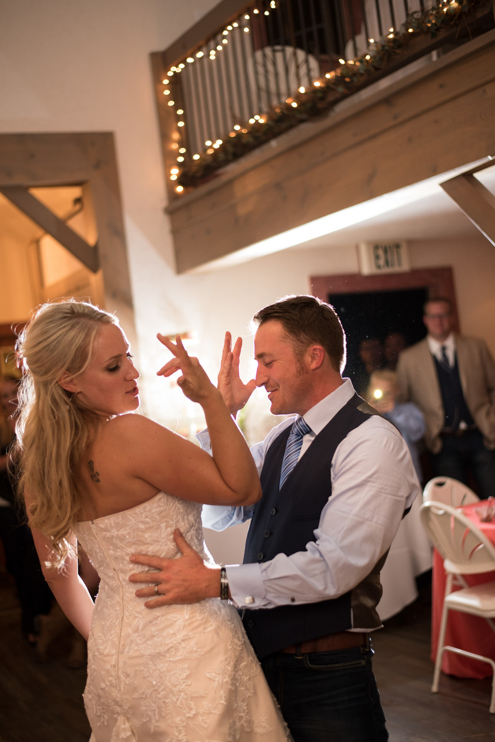 funny bride and groom first dance