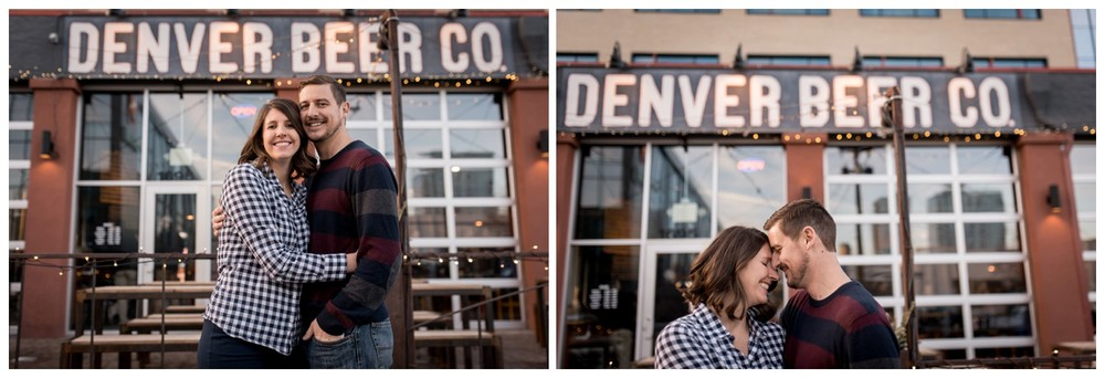 Denver Brewing Company engagement photo