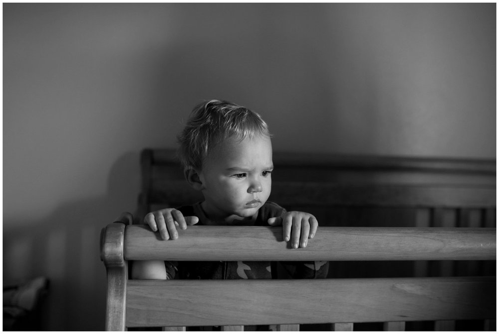 lifestyle photo of toddler waking from nap in colorado