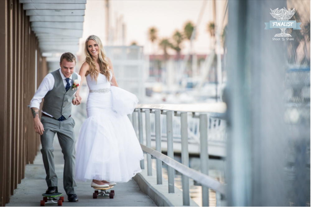 Nautical Boho Beachside Destination Wedding; Redondo Beach, California