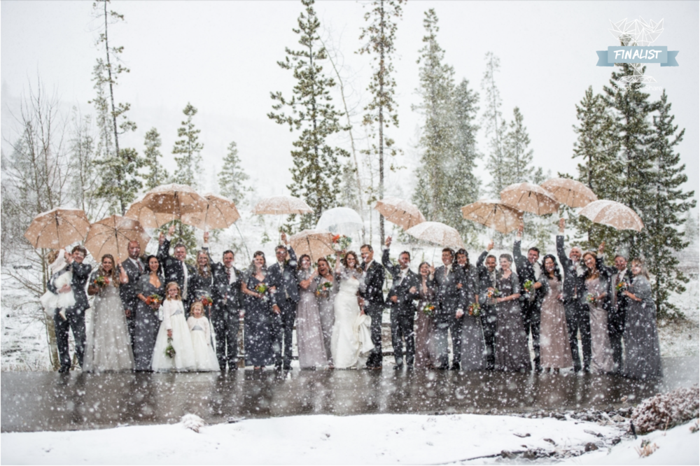 Surprise Spring Blizzard Wedding; Devil's Thumb Ranch, Tabernash, Colorado