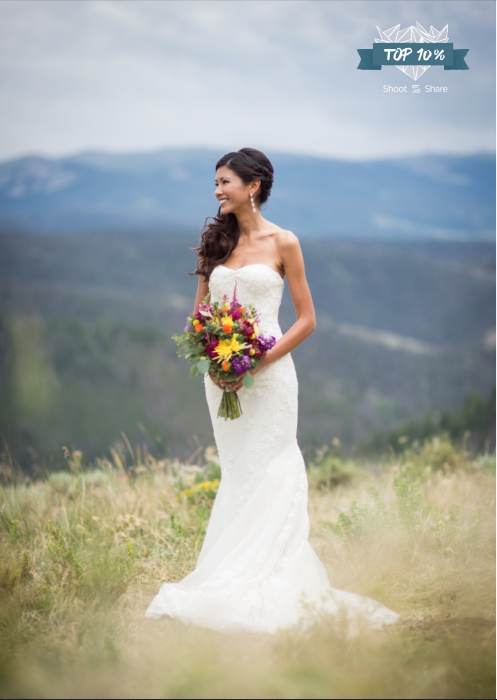 Stormy Summer Mountain-top Wedding; Granby Ranch, Colorado