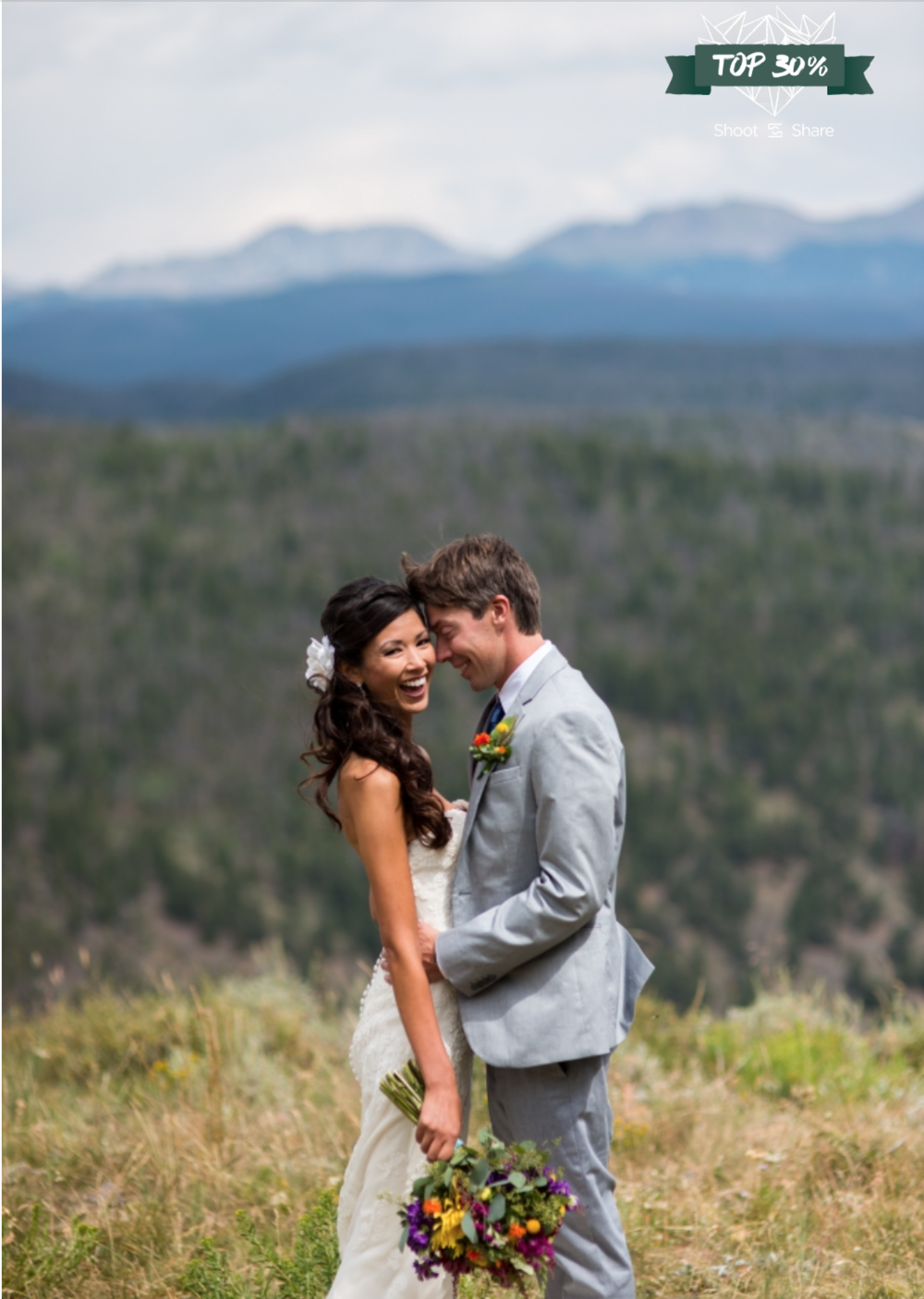 Enjoying the moments after getting Married on the Mountain; Granby Ranch, Colorado