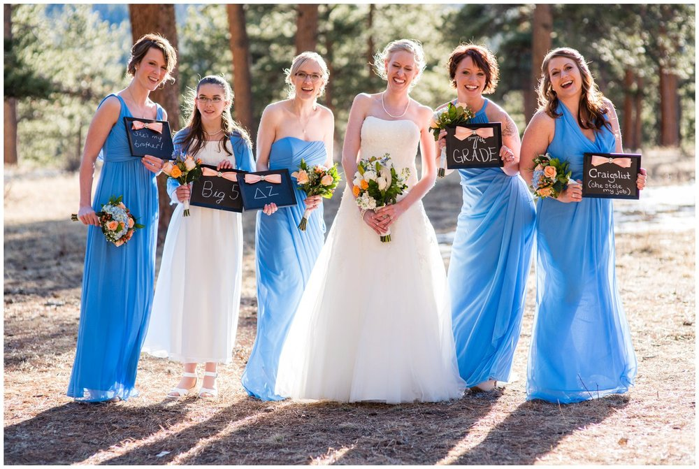 funny bridesmaid photo