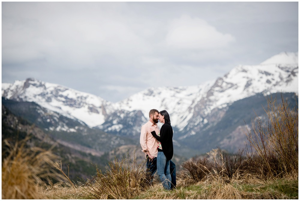 engagement photo in Colorado mountains