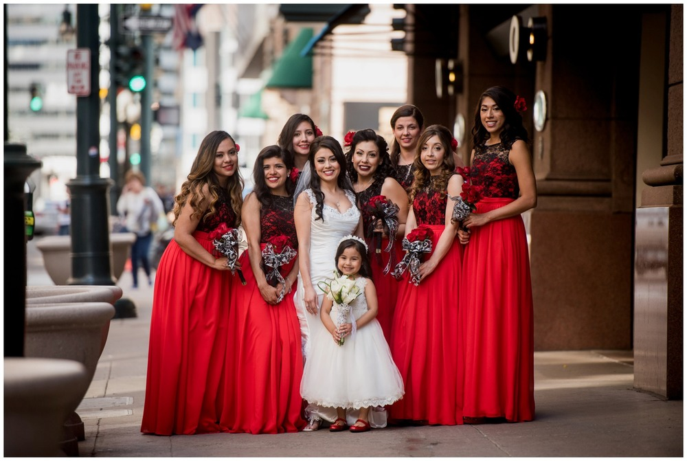 Bridesmaids photo in Downtown Denver