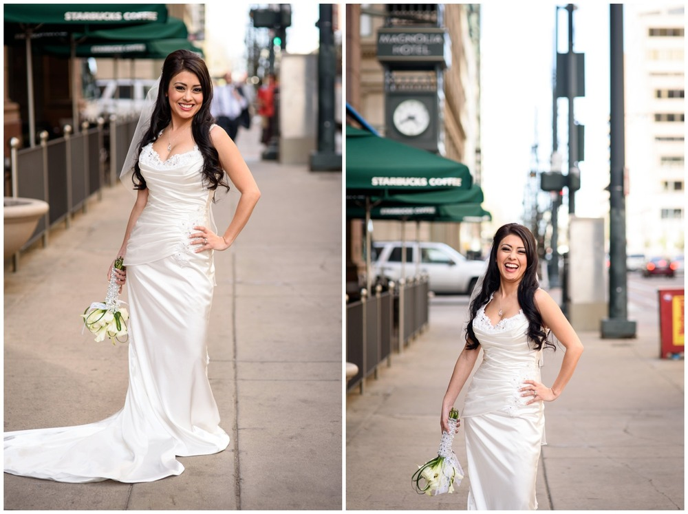gorgeous downtown Denver city bride