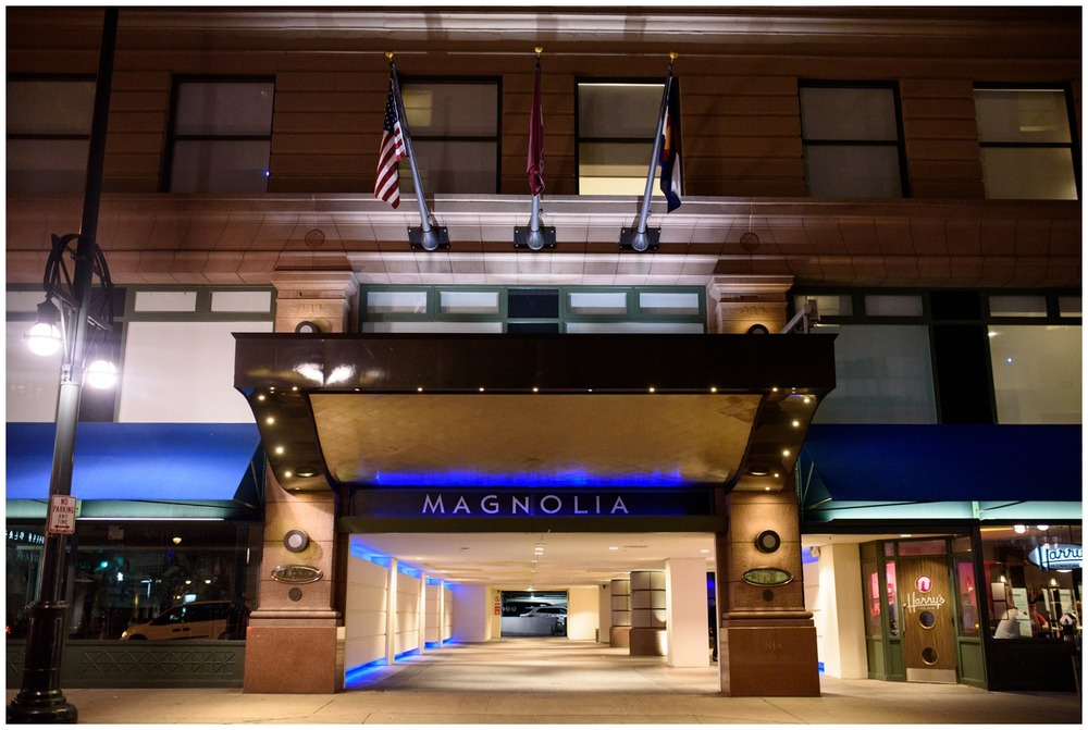 Magnolia Hotel Denver at night